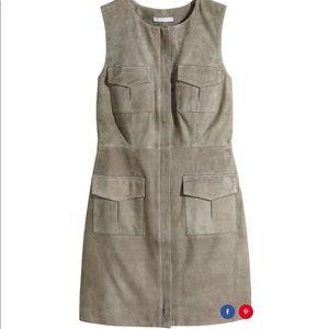 H&M Genuine Suede Khaki/ Sleeveless Dress - size 6